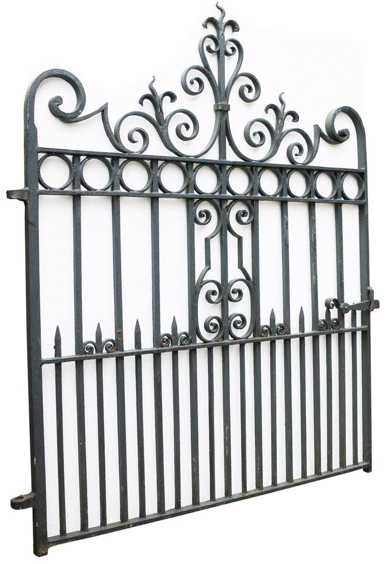English Wrought Iron Pedestrian / Garden Gate, circa 1900 For Sale