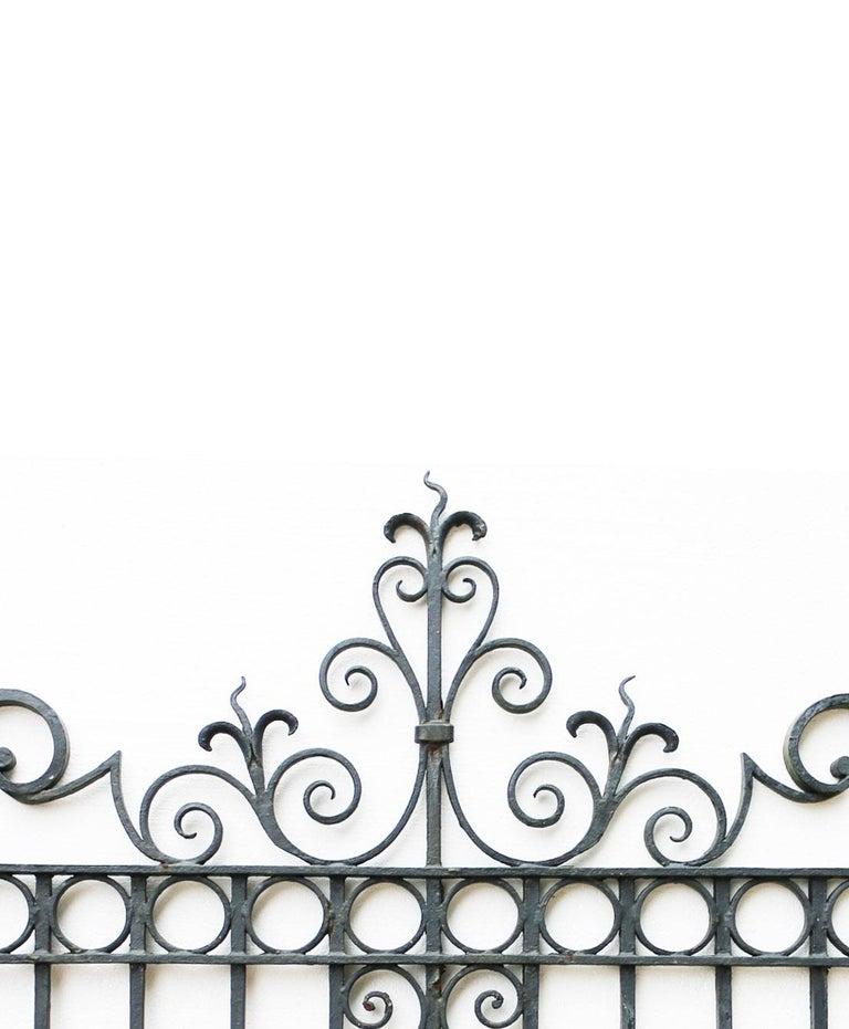 Hand-Crafted Wrought Iron Pedestrian / Garden Gate, circa 1900 For Sale