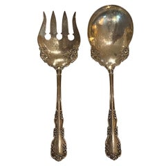 Circa 1908 Two Piece Serving Set by International Silver Co. Rosalind, Marked