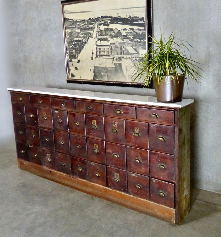 Wooden Multi Drawer Apothecary Cabinet, circa 1910 For ...