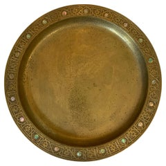 Tiffany Studios Gilt Bronze Dore Plate Abalone Pattern, Model 1730, circa 1915