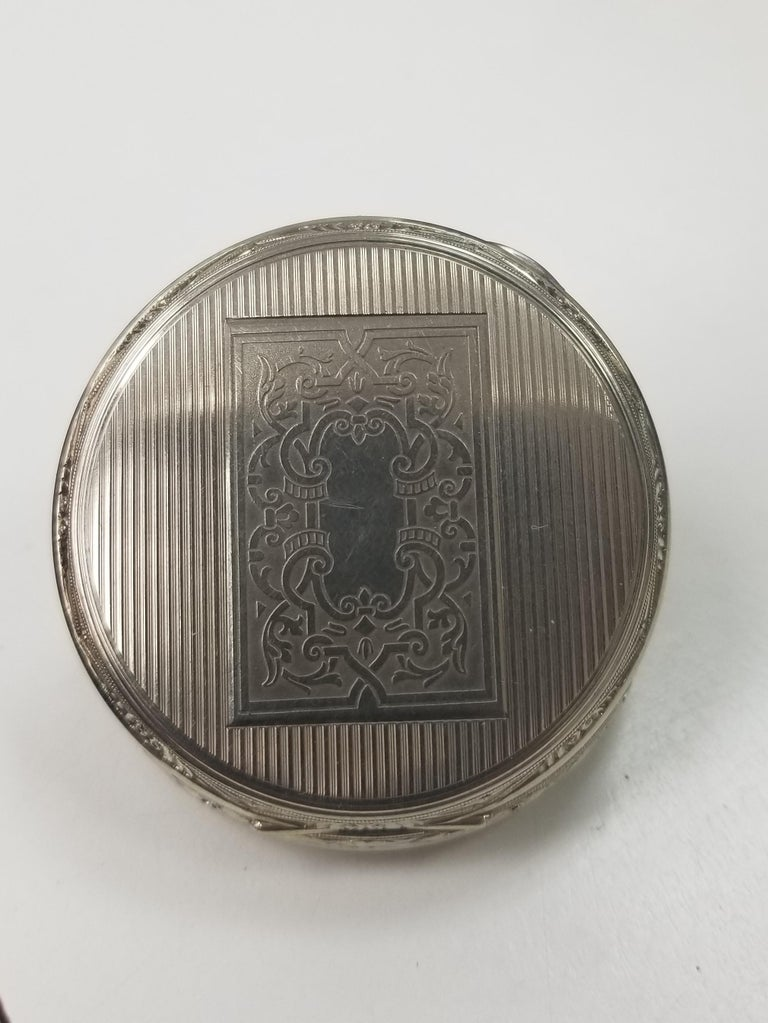 E. Howard 17 Jewels 3 Positions White Gold Filled Pocket Watch, circa 1917 For Sale 3