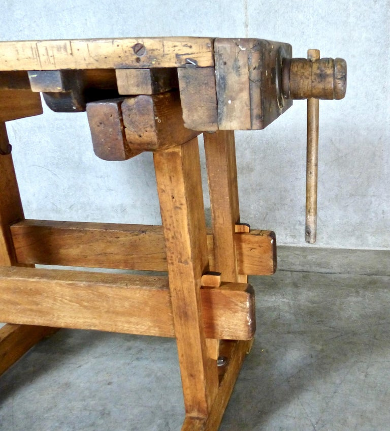 Maple Workbench With Vice Circa 1920 1930 At 1stdibs