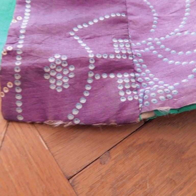 Taisho Period Japanese Juban Silk Kimono, circa 1920 For Sale 11