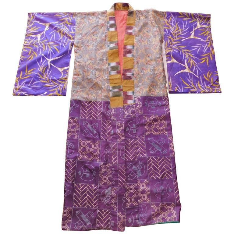 Taisho Period Japanese Juban Silk Kimono, circa 1920 For Sale