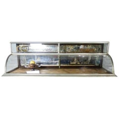 Two-Tiered Nickel-Plated Countertop Display Case, circa 1920