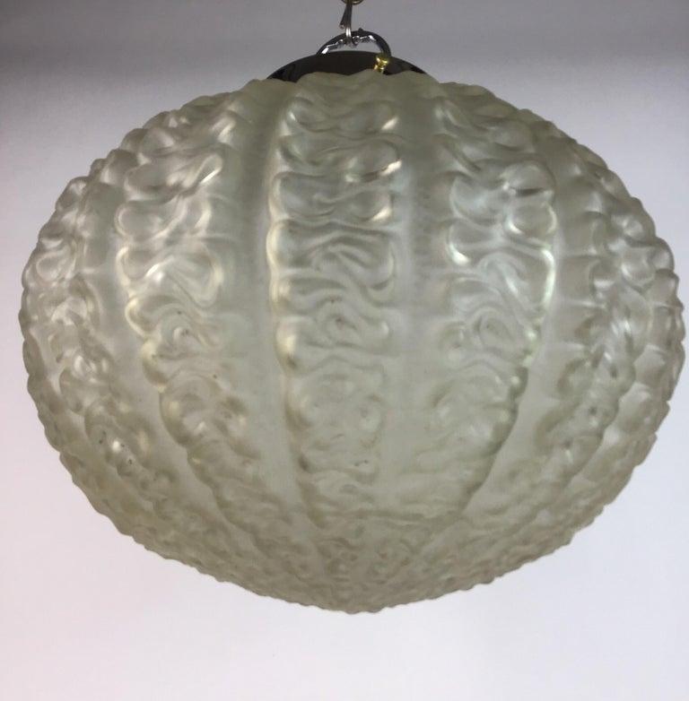 Nautical Cased Glass Pendant, circa 1920s In Good Condition For Sale In Douglas Manor, NY