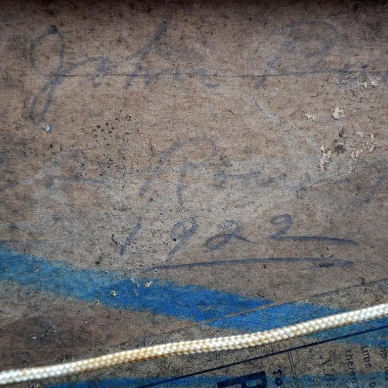 Folk Art Naïve Oil on Board Painting of the Titanic, circa 1922 For Sale 4