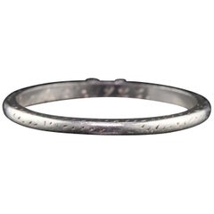 Antique Art Deco Platinum Engraved Wedding Band, circa 1923