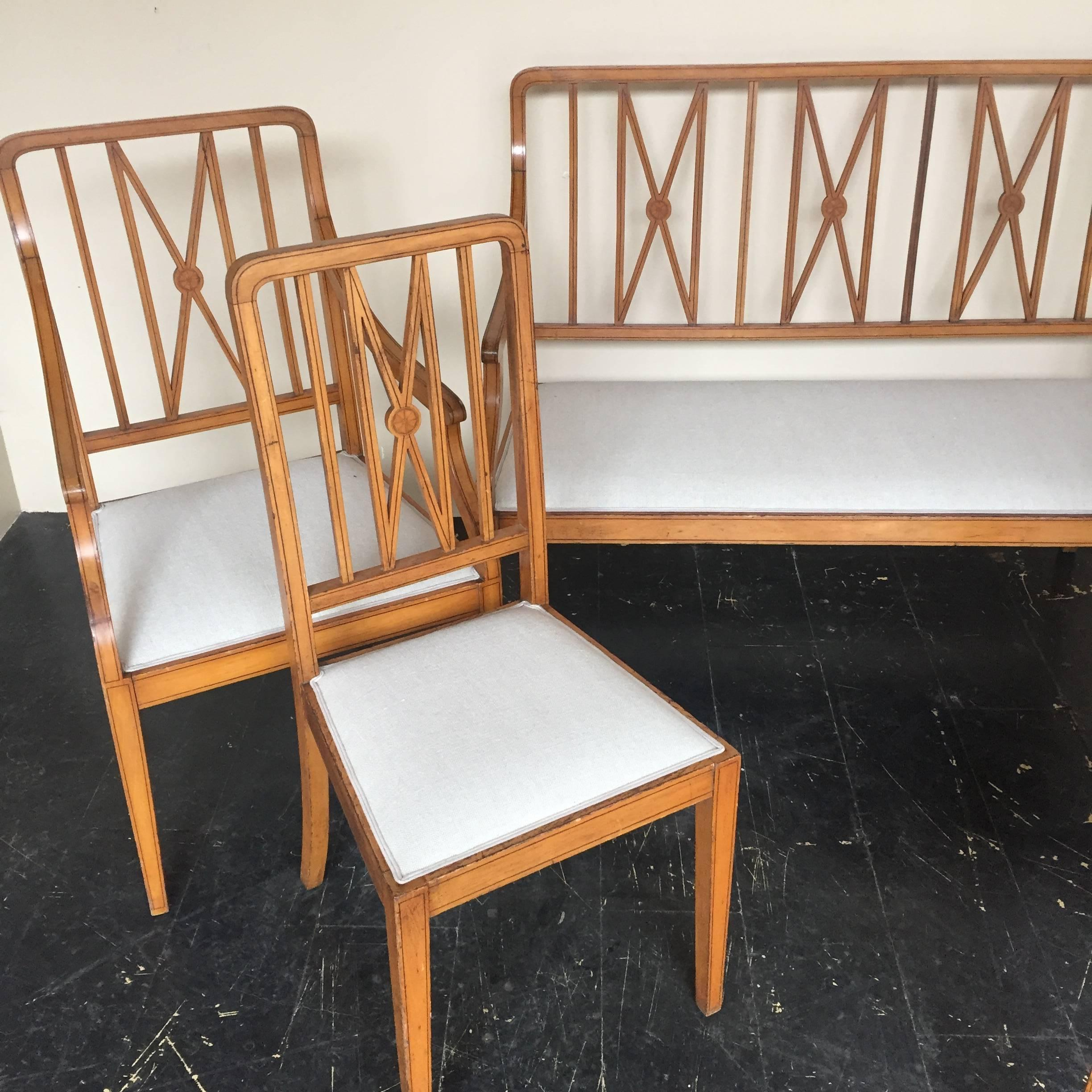 Set Of Art Deco Two Armchairs Chairs And One Sofa Circa 1930 At 1stdibs
