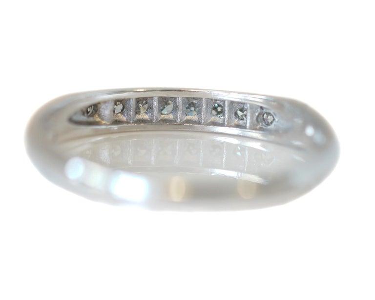 Women's .08 Carat Platinum Diamond 8-Stone Wedding Band, circa 1930s For Sale