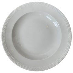 "Marked Meissen ""Weiss Geschirr"" German White Porcelain Plate, circa 1934"