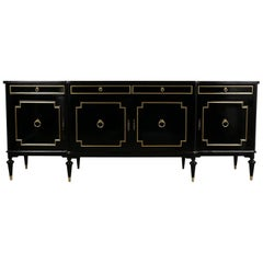 Regency Style Buffet with Lacquered Finished, circa 1950s