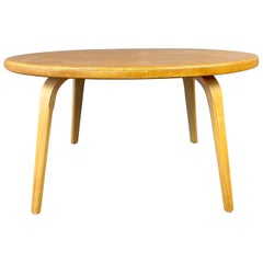 Round Thonet Cork Top Coffee Table, circa 1950s