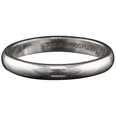 Vintage Estate Platinum Wedding Band, circa 1958