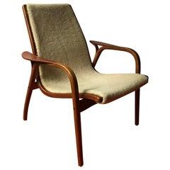 1956, Yngve Ekström for Swedese Møbler, Lamino Chair with sheep Skin