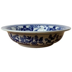 "Chinese Export Blue & White Porcelain Bowl, Marked ""Made in China"", circa 1960s"
