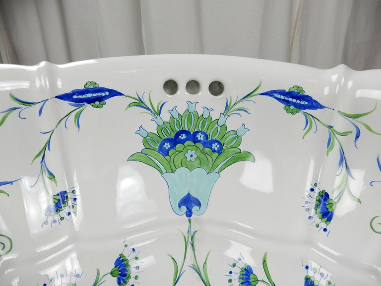 Baroque Revival Italian Bathroom Basin Sink from Sherle Wagner Collection, circa 1960s For Sale