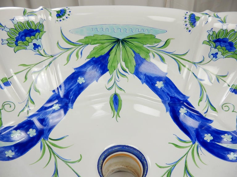 Italian Bathroom Basin Sink from Sherle Wagner Collection, circa 1960s In Good Condition For Sale In Las Vegas, NV