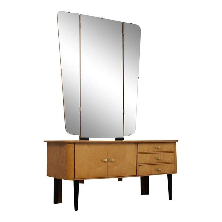 German Modern Lacquered Finish Dressing Table, circa 1960s For Sale