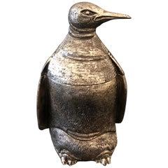 Silver Plated Mauro Manetti Penguin Ice Bucket, circa 1970