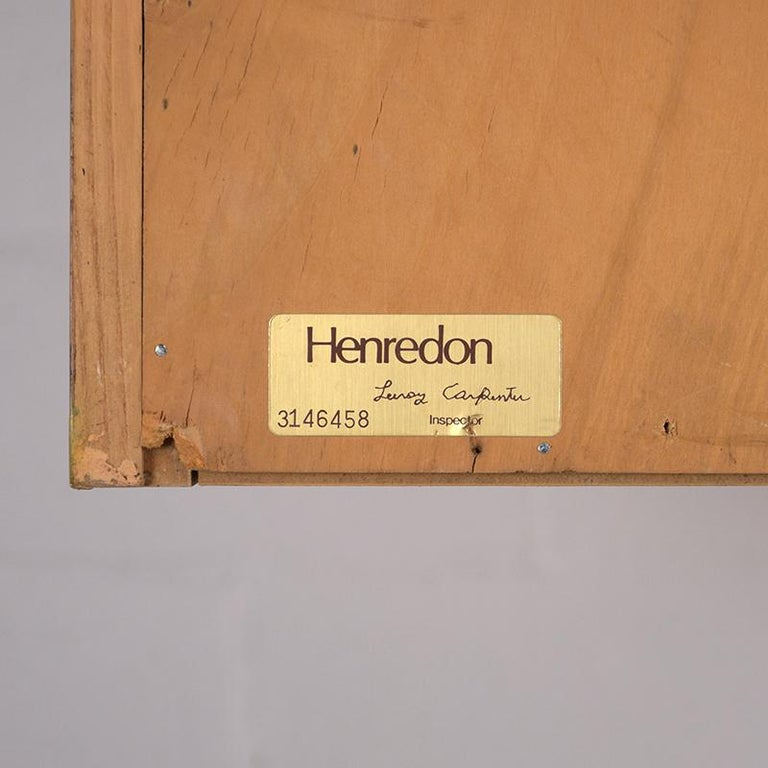 Late 20th Century Two-Door Burled Wardrobe by Henredon, circa 1970s For Sale