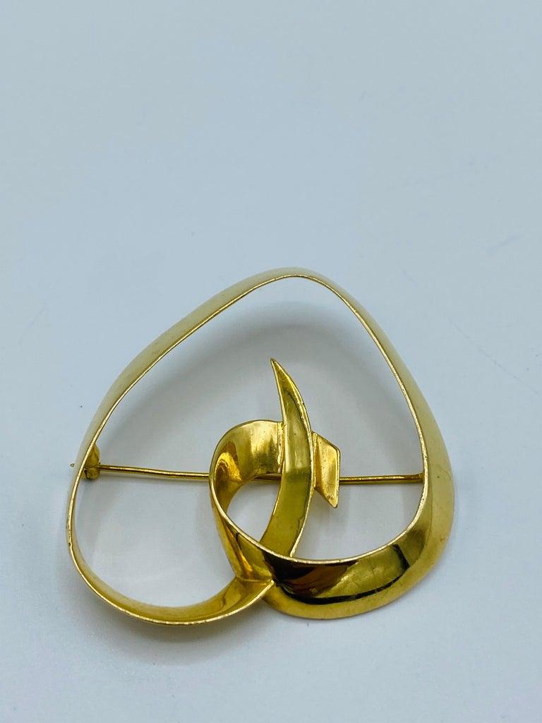 Women's Circa 1983 Tiffany & Co. Paloma Picasso Yellow Gold Heart Brooch