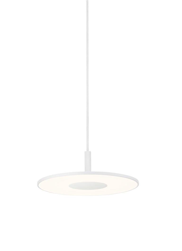 Modern circa Pendant Light in White by Pablo Designs For Sale
