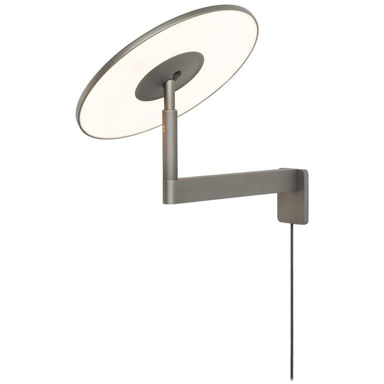 Circa Wall Light in Graphite by Pablo Designs For Sale