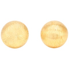 Circle 14 Karat Yellow Gold Clip-On Earrings