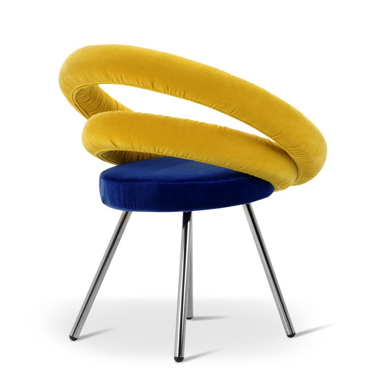 Italian Circle Chair by Roberto Giacomucci and Nicola Cerasa For Sale