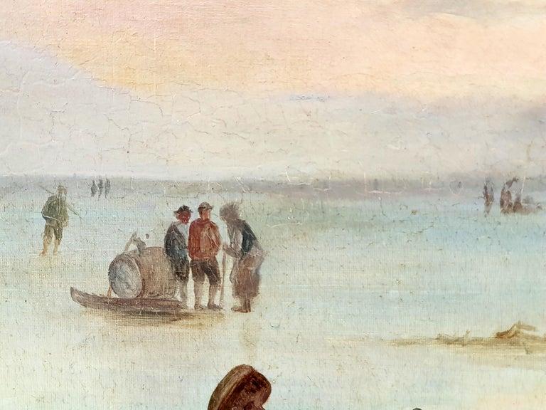 Romantic Circle/Follower of Fredrik Marinus Kruseman, Winter At The Lake, 1880s For Sale