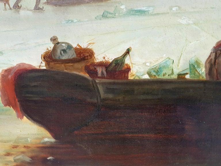 Dutch Circle/Follower of Fredrik Marinus Kruseman, Winter At The Lake, 1880s For Sale