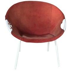 Circle Leather Armchair