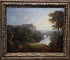 Capriccio Landscape - Scottish art Old Master landscape with ruins oil painting