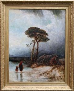 Rainy Landscape - Impressionist Victorian art oil painting famous weather artist