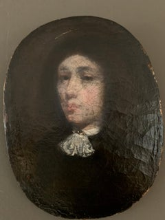 Petite French 17th century portrait of a gentleman