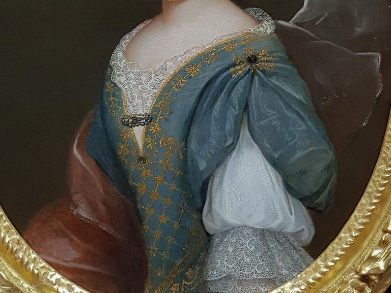 Portrait of a Lady, Fine Carved Period Frame - Old Masters Painting by (circle of) François de Troy