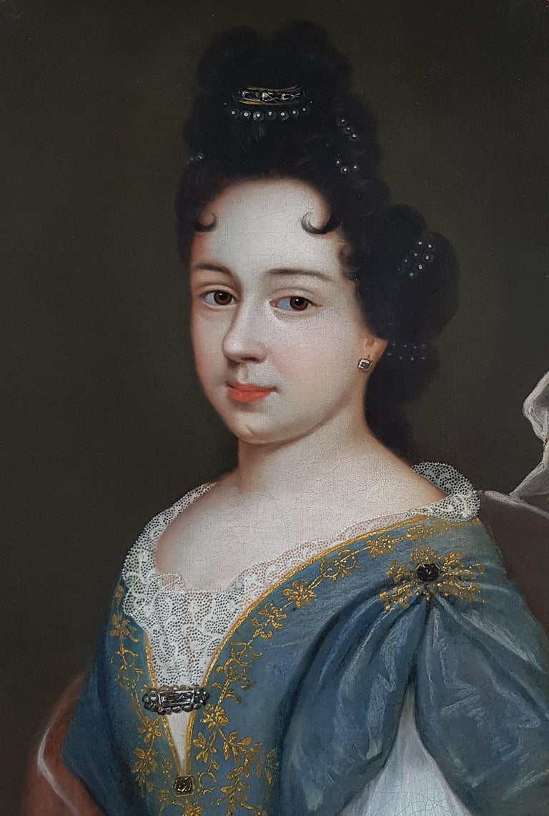 Portrait of a Lady, Fine Carved Period Frame 1