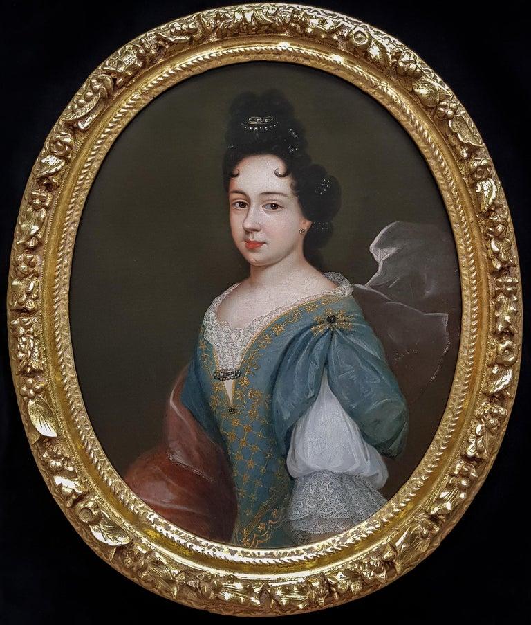 (circle of) François de Troy Portrait Painting - Portrait of a Lady, Fine Carved Period Frame