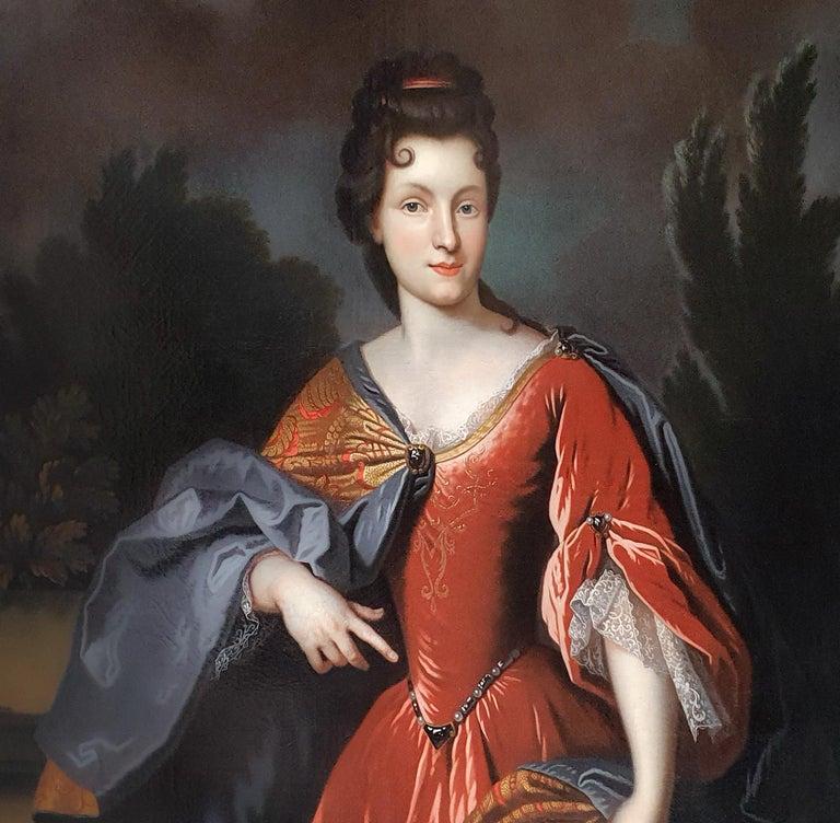 Portrait of Renée Bouthillier de Chavigny, French Chateau Provenance - Brown Portrait Painting by (circle of) François de Troy