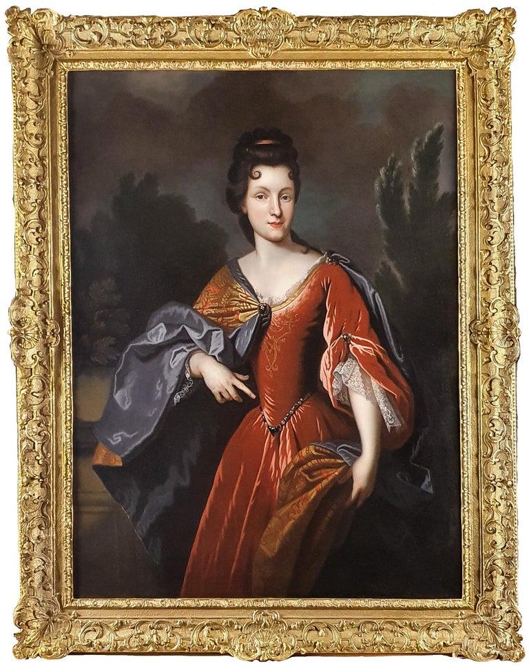(circle of) François de Troy Portrait Painting - Portrait of Renée Bouthillier de Chavigny, French Chateau Provenance