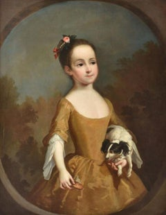 Portrait of Katherine Miller and her spaniel