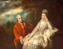 18th Century Romantic Oil Portrait Painting in the style of Joshua Reynolds