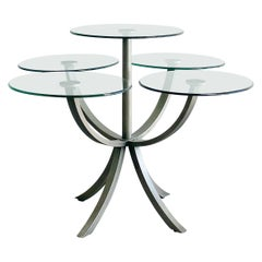 'Circle of Life' Dining or Center Table by Design Institute America, 1980's