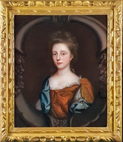 Portrait of a Young Lady in a Russet Dress with Blue Wrap c.1680's; Mary Beale