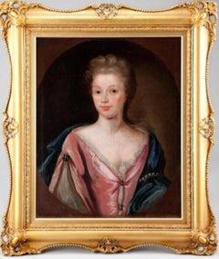 18thc Oil Portrait Of An Aristocratic Lady