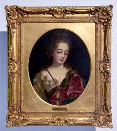 """""""Mme de Noirmont"""", Oil on Canvas Portrait, circa 18th Century"""
