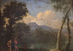 17th Century French Classical Old Master Oil Painting Mythological Figures