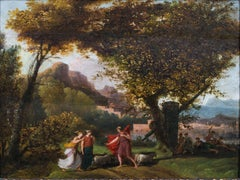 Classical Landscape With Figures, 17th Century